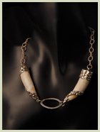 ornate tooth necklace